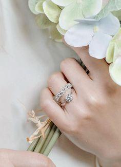 Double Layer Cluster Diamond Wedding Band - Praise