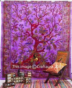 Tree of life tapestry wall tapestry hippie tapestry Twin Bedspread Dorm Tapestry