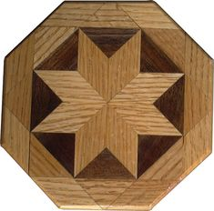 Oak and Walnut Trivet Barn Quilt Patterns, Wood Patterns, Scrap Wood Projects, Woodworking Projects, Wood Mosaic, Star Quilt Blocks, Into The Woods, Wood Lathe, Popular Woodworking