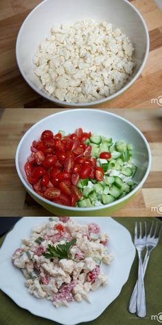 This salad will easili become your favorite recipe! Its one of the best!- Russian SUB GREEK YOGURT FOR THE MAYO
