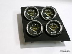 1968-1974 Nova Console Carbon Fiber Finish Quad Pod with Auto Meter Carbon Fiber Electric Gauges.