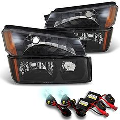 Avalanche Body Cladding Black Bezel Headlights wBumper Signal  Slim Ballast 8K White Blue HID ** Check this awesome product by going to the link at the image. (This is an affiliate link) #CarLights