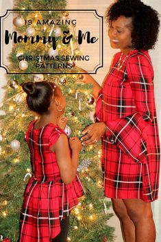 Mommy and me Sewing Christmas patterns for the girls in family