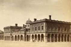 The Port Adelaide Police Station, Court House and Custom House in (Image: State Library of South Australia) City Of Adelaide, Adelaide South Australia, Police Station, Custom Homes, Vietnam, Past, Louvre, History, Architecture
