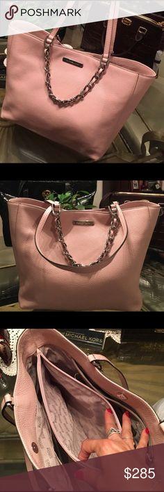 Michael Kors Pink East West Tote Michael Kors pink leather east and west tote Michael Kors Bags Totes
