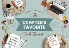 The Crafter's Favorite Font Bundle is filled with our favorite clean fonts for crafting! Perfect for creating new, cut friendly designs. This bundle is sure to impress with 26 fonts from 15 font families, an incredible off!