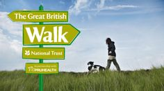 The Great British Walk - Lady walking her dog on Danbury Common, Essex © NTPL