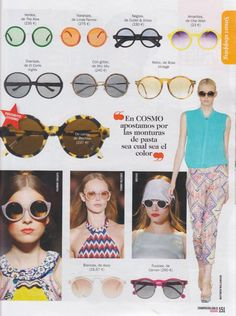 Spanish Fashion Trends. Cosmopolitan Spain features our 0983 frame in black.  A distinctive round John Lennon inspired frame with a famous architect feel and artsy appearance.