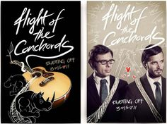 Flight of the Conchords illustrated poster concept by FIDM Graphic Design Grad Eric Acasio