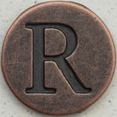 Copper Uppercase Letter R by Leo Reynolds Dear Letter, Letter Find, Letter Symbols, Alphabet Letters, Alphabet Photos, Graffiti Alphabet, Alphabet Soup, Letter R Tattoo, Picture Letters