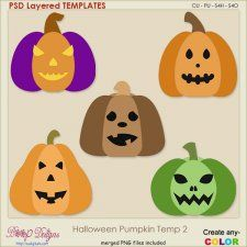 Halloween Pumpkin Layered TEMPLATES 2 #CUdigitals cudigitals.com cu commercial digital scrap #digiscrap scrapbook graphics