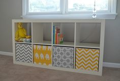 Fabric-Covered Storage Bins- these would be wonderful made in Cuddle Fabric!