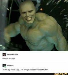 Funny pictures about The Mask On The Hulk Is A Terrifyingly Amusing Thing. Oh, and cool pics about The Mask On The Hulk Is A Terrifyingly Amusing Thing. Also, The Mask On The Hulk Is A Terrifyingly Amusing Thing photos. Memes Humor, Dc Memes, Funny Memes, Funny Shit, The Funny, Funny Posts, Funny Stuff, Funny Things, Iron Man Image