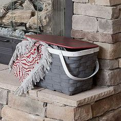Old Picnic Basket Becomes New Storage -- Redo a found picnic basket into unique storage.