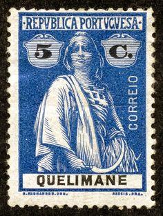 Quelimane 1914 Scott 31 5c deep blue