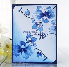 Blue happiness by Penny Ward - Cards and Paper Crafts at Splitcoaststampers