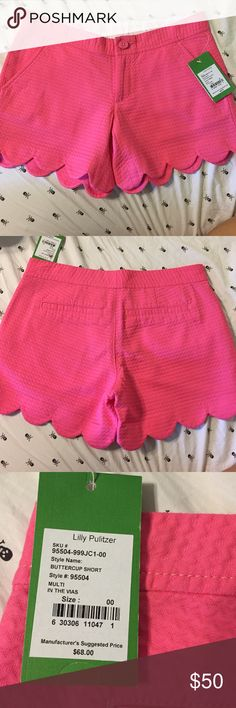 NWT scalloped lily Pulitzer shorts Brand new, never worn Lilly Pulitzer Shorts