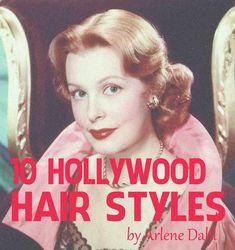 Vintage Hairstyles 10 Hollywood Hairstyles of the 1950s Hairstyles, Classic Hairstyles, Hollywood Hairstyles, Fancy Hairstyles, Curled Hairstyles, Vintage Hairstyles, Gene Tierney, Lauren Bacall, Ava Gardner