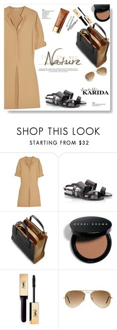 """I Would Like To Have..."" by viola279 ❤ liked on Polyvore featuring Totême, Ancient Greek Sandals, Marni, Bobbi Brown Cosmetics and Ray-Ban"