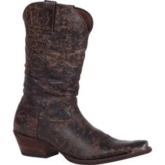"11"" Gambler by Durango: Men's Western Brown Pull-On Slouch Boots – Style #DB5563 - Durango Boot Company"