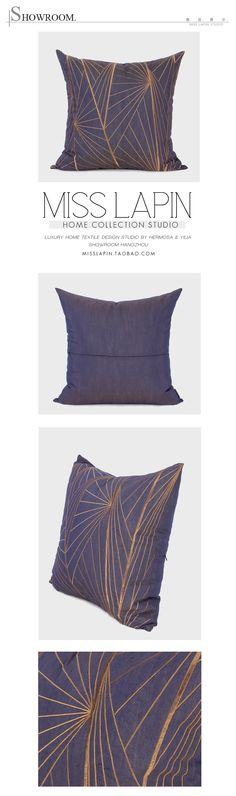 新中式/样板房设计师家居软装沙发靠包抱枕/紫色几何图案绣花方枕/布艺-淘宝网