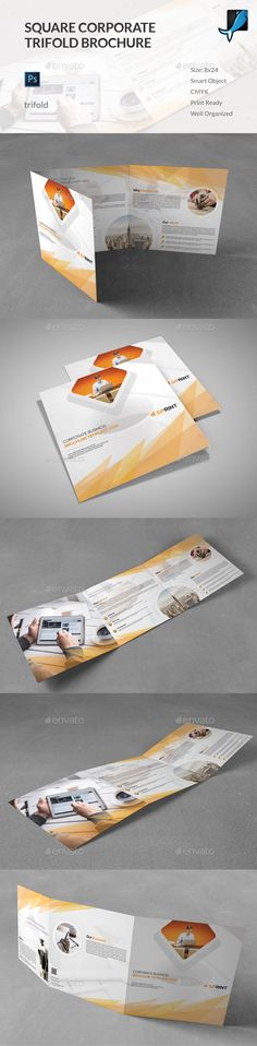 Square Corporate Trifold Brochure Template PSD. Download here: http://graphicriver.net/item/square-corporate-trifold-brochure/15780830?ref=ksioks