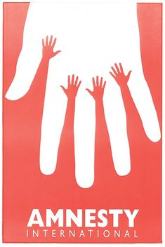 Amnesty Israel Hands Poster, 1995  by Lemel Yossi #Amnesty_International #Lemel_Yossi #Israel #Hand_Poster