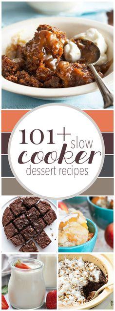 Over 100 Slow Cooker Dessert Recipes!   http://www.somethingswanky.com/101-slow-cooker-dessert-recipes/