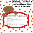 Gingerbread themed literacy center/activity based on CCSS Conventions of Standard English for grades K-2.Students can play this sorting activity ...