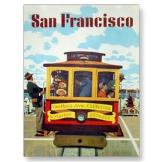 Postcard with vintage print from San Francisco.