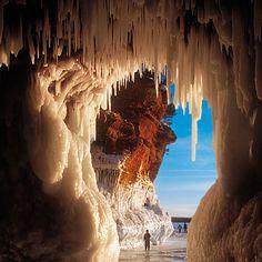 Apostle Islands ice cave, Wisconsin