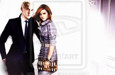 A little dramione manipulation. The original picture is from a Burberry photoshoot with Emma Watson. Draco and Hermione - Manip Draco And Hermione, Draco Harry Potter, Draco Malfoy, Tom Felton Emma Watson, Hogwarts, Slytherin, Hot Couples, Dramione, Perfect Couple