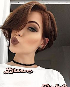 Today we have the most stylish 86 Cute Short Pixie Haircuts. We claim that you have never seen such elegant and eye-catching short hairstyles before. Pixie haircut, of course, offers a lot of options for the hair of the ladies'… Continue Reading → Formal Hairstyles For Short Hair, Short Pixie Haircuts, Short Hair Cuts For Women, Cool Hairstyles, Pixie Hairstyles, Short Asymmetrical Haircut, Haircut Short, Haircut Styles, Pelo Pixie