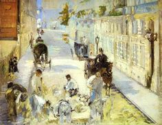 The road-menders, Rue de Berne, 1878 by Edouard Manet. Impressionism. cityscape. Private Collection