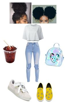 """chill day✨"" by angeliqueamor on Polyvore featuring Puma and Sugarbaby"
