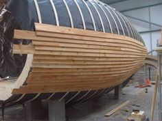 curved timber clad
