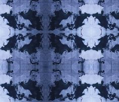 My latest fabric design. Kaleidoscope Johnny Cash fabric by luckygirl_eleven on Spoonflower - custom fabric
