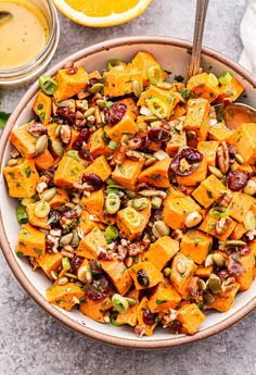 Sweet Potato Side Dish, Salad With Sweet Potato, Sweet Potato Recipes, Potato Salad, Healthy Side Dishes, Vegetable Side Dishes, Side Dish Recipes, Healthy Sides, Healthy Salad Recipes