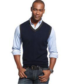 New Arrival 2016 Autumn & Winter Fashion Men's V-neck Sweater Vest ...