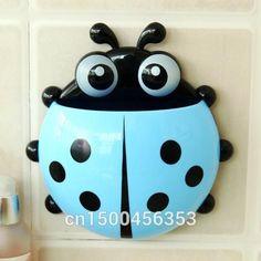 Cute ladybug toothbrush holder toothpaste holder novelty households sucker Sheif home supplies creative ladybug holder