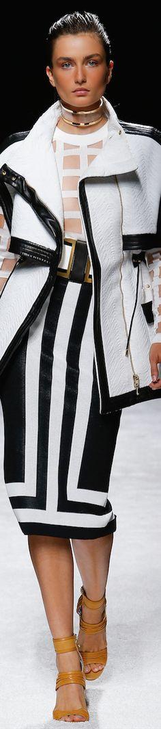 RosamariaGFrangini ... Black&White. Balmain Spring 2015 RTW