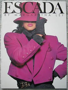 Vintage ESCADA Fashion Catalog Monica BELLUCCI Gail ELLIOTT 1990 More in Store | eBay
