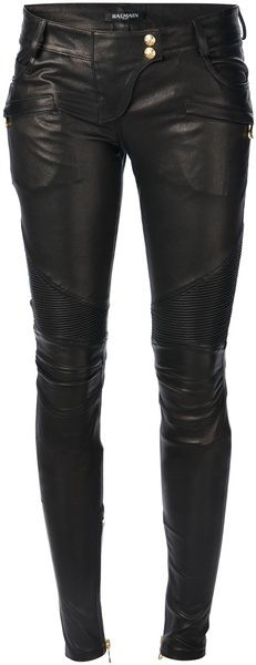 Balmain Black Skinny Biker Trouser - if only they came with a 36' inseem.... #TallGirlProblems