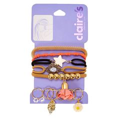 Coral Bangle Hair Ties And Gold Hair Rings Set: Mix up your style with this multi-functional set of hair ties and hair rings. Rock the hair… Best Kids Watches, Best Carry On Luggage, Hair Rings, Bridal Nails, Gold Hair, Toys For Girls, Cute Jewelry, Cool Gifts, Tween