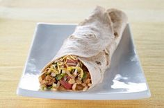 Cheesy Turkey & Rice Burrito