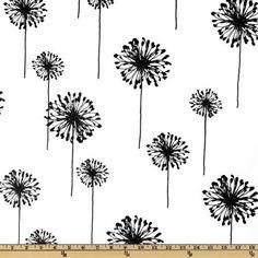 54'' Wide Premier Prints Dandelion White/Black Fabric By The Yard by Premier Fabrics, http://www.amazon.com/dp/B0042TN7SW/ref=cm_sw_r_pi_dp_T.uHqb1Q0K5AB