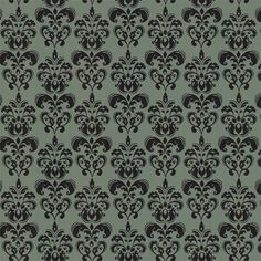 Green & Charcoal Damask from Chic Shelf Paper