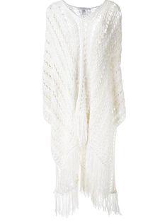 PHILOSOPHY DI LORENZO SERAFINI knitted fringed poncho. #philosophydilorenzoserafini #cloth #poncho