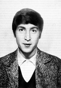 """mccartneymadness: """" Young John Lennon with his hair pushed back """""""