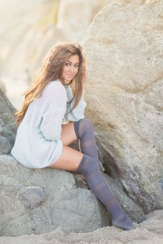 Clara Bella Photography | Malibu, CA at El Matador Beach | Beachy Senior Portrait Session | Beyond the Wanderlust Fan Feature
